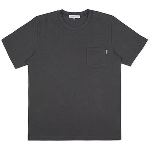 SIMPLE POCKET TEE (CHACOAL)