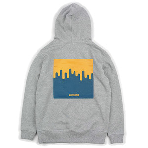 ORANGE FLOW HOODIE (GREY)