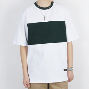 FRAME TEE (WHITE/GREEN)